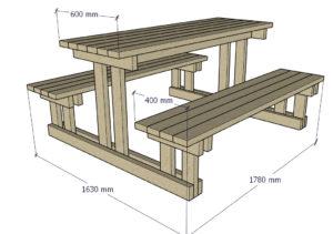 Комплект лавки  и стол